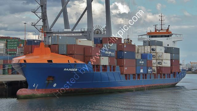 Ref-FCT65 Ranger Container Feeder Ship Southampton Docks Hampshire Gt Britain 2017 (C)RLT Aviation And Maritime Images 2018 opt
