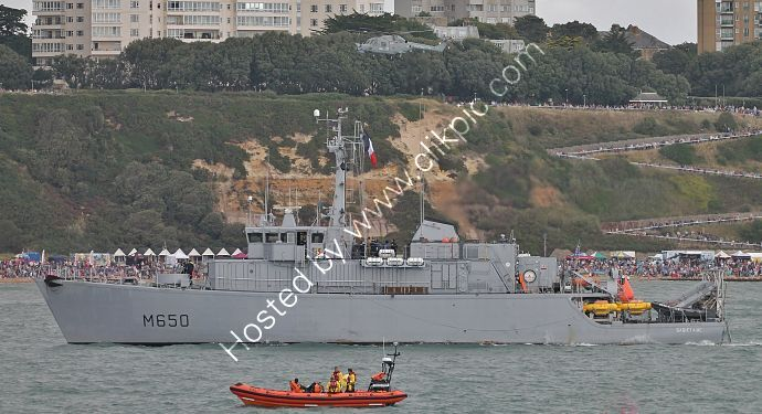 Ref-FN3 Sagittaire M650 French Navy Mine Counter Measures Vessel Bournemouth Bay Hampshire Gt Britain 2014 (C)All Copyrights Reserved RLT Aviation And Maritime Images opt