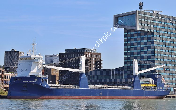 Ref GCO(G)-65 Symphony Provider General Cargo Ship Rotterdam Docks Holland 2017 (C)RLT Aviation And Maritime Images 2018 opt
