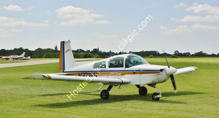 Ref-GCT-2 Grumman AA5A Cheetah N321ES Sywell Aerodrome Northamptonshire Gt Britain 2013 (C)RLT Aviation And Maritime Images 2018 opt