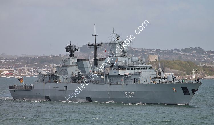 Ref-GF72_FGS_Bayern F217 Brandenburg Class Frigate German Navy Plymouth Sound Plymouth Devon GB 2021 (C)Copyright Reserved 2021 RLT-Aviation And Maritime Images opt