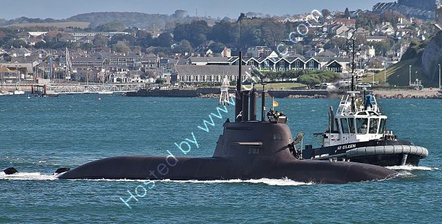 Ref-GNSUB4  U33 Type 212A-(S183) Submarine German Navy Plymouth Sound Plymouth Devon Gt Britain 2020 (C)RLT Aviation And Maritime Images 2020 opt
