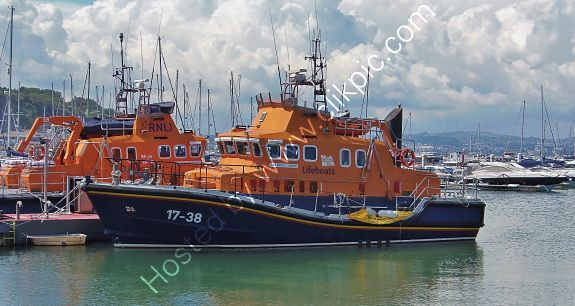 Ref-LBRV26 RNLB Daniel L Gibson 17-38 RNLI Severn Class Lifeboat Port Of Brixham Devon Gt Britain 2020 (C)RLT Aviation And Maritime Images 2020 opt