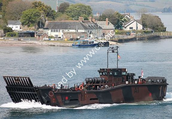 Ref-LCSV5 LCU MK10 Landing Craft A1 Royal Marines Leaving RN Devonport Plymouth Devon GB 2021 (C)Copyrights Reserved RLT Aviation And Maritime Images-2021 opt opt