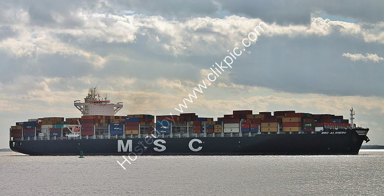 Ref-OCT-264 MSC Al Ghero Container Ship Felixstowe Suffolk Gt Britain 2017 (C)RLT Aviation And Maritime Images 2018 opt