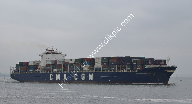 Ref-OCT512 CMA CGM Samson Container Ship Port Of Felixstowe Suffolk Gt Britain 2016 (C)RLT Aviation And Maritime Images 2018