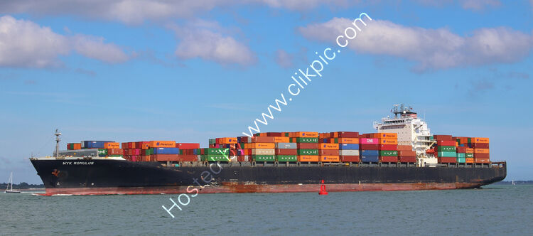 Ref-OCT554 NYK Romulus Container Ship Southampton Water Hampshire Gt Britain 2020 (C)RLT Aviation And Maritime Images 2020