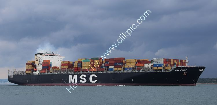 Ref-OCT570 MSC Esthi Container Ship Southampton Water Hampshire Gt Britain 2020 (C)RLT Aviation And Maritime Images 2020 opt