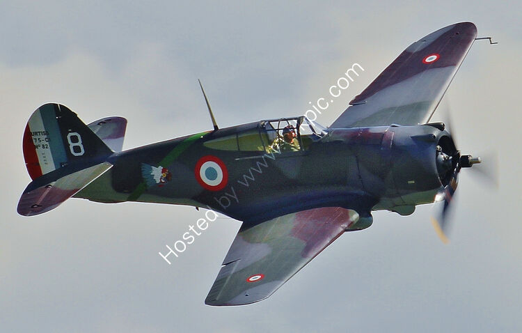 Ref-P36-8 Curtiss P36C Hawk French AF The Fighter Collection G-CCVH Duxford Gt Britain 2014 (C)Copyrights Reserved - RLT Aviation And Maritime Images 2021