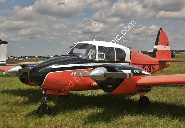Ref-PAAP3 Piper PA23 Apache N2287P Lakeland Airport Florida USA 2015 (C)RLT Aviation And Maritime Images 2020 opt