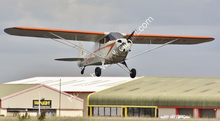 Ref-PJ4-12 Piper PAJ4A Cub Coupe G-BRBV Dunkerswell Aerodrome Devon Gt Britain 2012 (C)RLT Aviation And Maritime Images 2020 opt