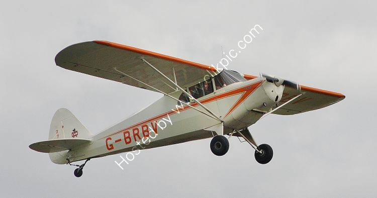 Ref-PJ4-1 Piper PAJ4A Cub Coupe G-BRBV Dunkerswell Aerodrome Devon Gt Britain 2012 (C)RLT Aviation And Maritime Images 2020 opt