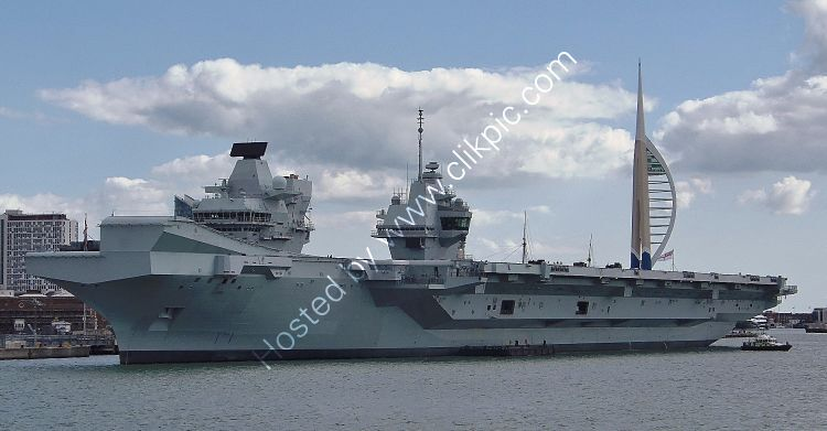 Ref-RNGB(ACC)33 HMS Prince Of Wales RO9 Aircraft Carrier Royal Navy RN Dockyard Portsmouth Hants GB 2020 (C)RLT Aviation And Maritime Images 2020 opt