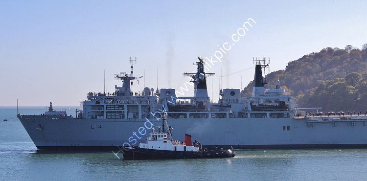 Ref-RNGB(DL)-40 HMS Albion L14 Dock Landing Amphibious Support Ship Royal Navy Plymouth Sound Devon Gt Britain 2020 (C)RLT Aviation And Maritime Images 2020 opt
