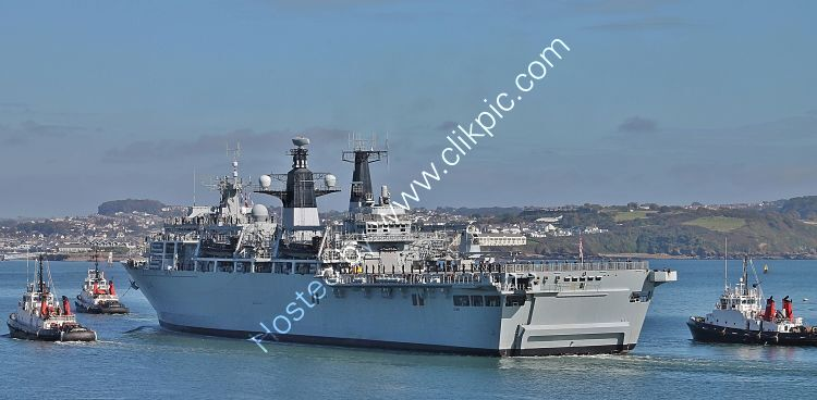 Ref-RNGB(DL)-49 HMS Albion L14 Dock Landing Amphibious Support Ship Royal Navy Plymouth Sound Devon Gt Britain 2020 (C)RLT Aviation And Maritime Images 2020 opt