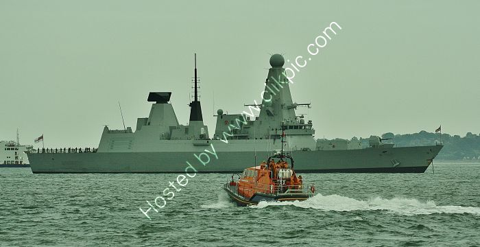 Ref RNGB(DTY)-31 HMS Dragon D35 Destroyer Royal Navy At Anchor In The Solent Hampshire 2012 (C)RLT Aviation And Maritime Images 2018 opt