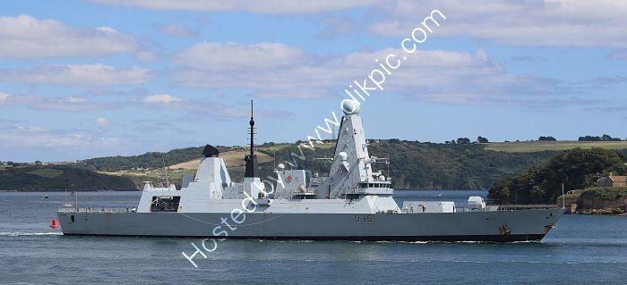 Ref-RNGB(DTY)32 HMS Defender D36 Daring Class Destroyer Plymouth Sound Devon Gt Britain 2020 (C)RLT Aviation And Maritime Images 2020 opt