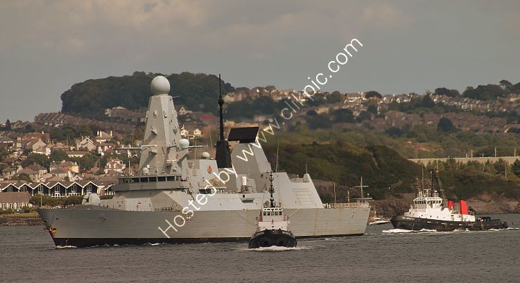 Ref-RNGB(DTY)56 HMS Defender D36 Royal Navy Type  45 Destroyer Plymouth Sound Devon Gt Britain 2020 (C)RLT Aviation And Maritime Images 2020 opt