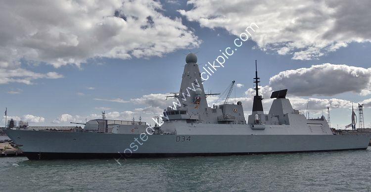 Ref-RNGB(DTY)81 HMS Diamond D34 Daring Class Type 45 Destroyer Royal Navy RN Dockyard Portsmouth Hants GB 2020 (C)RLT Aviation And Maritime Images 2020 opt