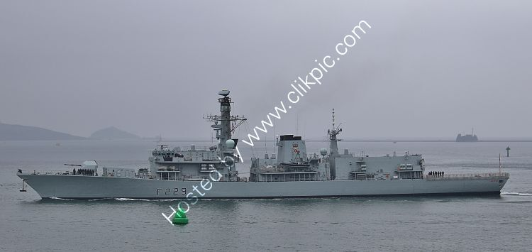 Ref-RNGB(FRG)-58 HMS Lancaster F229 Type 23 Duke Class Frigate Royal Navy Leaving RN Devonport Dockyard Plymouth For  Plymouth Sound Gt Britain 2020 (C)RLT Aviation And Maritime Images 2020 opt