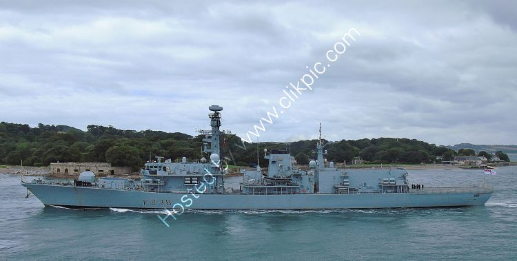 Ref-RNGB(FRG)-82 HMS Northumberland F238 Type 23 Duke Class Frigate Royal Navy Leaving RN Devonport Dockyard Plymouth Devon GB 2020 (C)RLT Aviation and Maritime Images 2020 opt