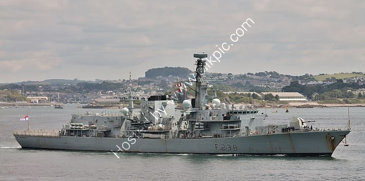 Ref-RNGB(FRG)112 HMS Northumberland F238 Royal Navy Type 23 Duke Class Frigate Plymouth Sound Plymouth Devon Gt Britain 2020 (C)RLT Aviation And Maritime Images 2020 opt