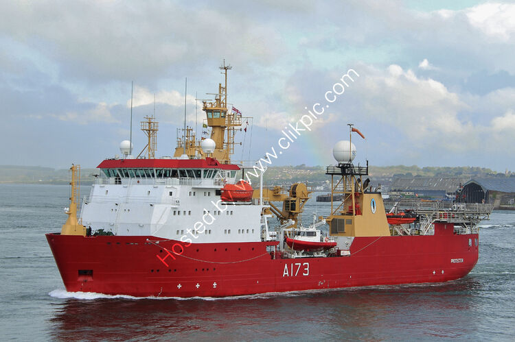 Ref-RNGB(IPRS)8 Protector A173 Leaving Devonport Dockyard Plymouth Devon GB 2021 (C)Copyright Reserved 2021 RLT-Aviation And Maritime Images