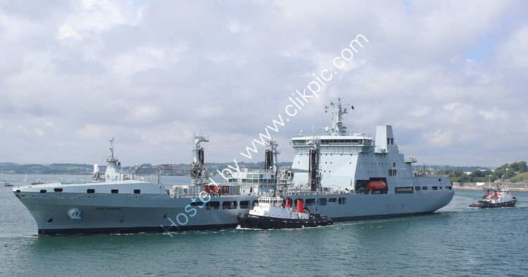 Ref-RNGB(TKS)48 RFA Tidespring Tanker-Stores Repelnishment Vessel Royal Navy Leaving Devonport Dockyard Plymouth Devon GB-2020 (C)RLT Aviation And Maritime Images 2020