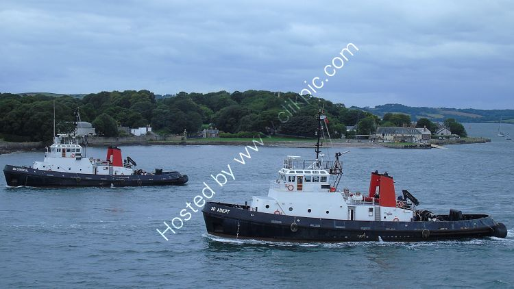 Ref-TSV-259 SD Adept & Careful Tugs River Tamar Plymouth Devon Gt Britain 2020 (C)RLT Aviation And Maritime Images 2020