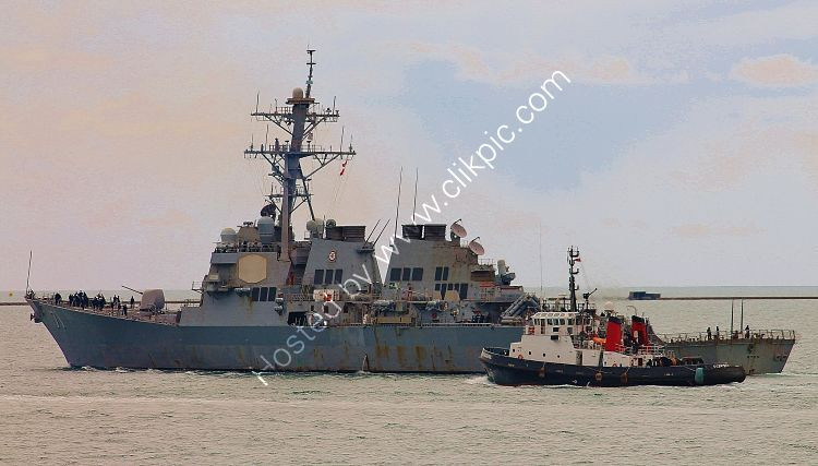 Ref-USS(D)7 USS Ross DDG71 Arleigh Burke Class Destroyer USN Plymouth Sound Plymouth Devon GB 2021 (C)Copyrights Reserved RLT Aviation And Maritime Images 2021