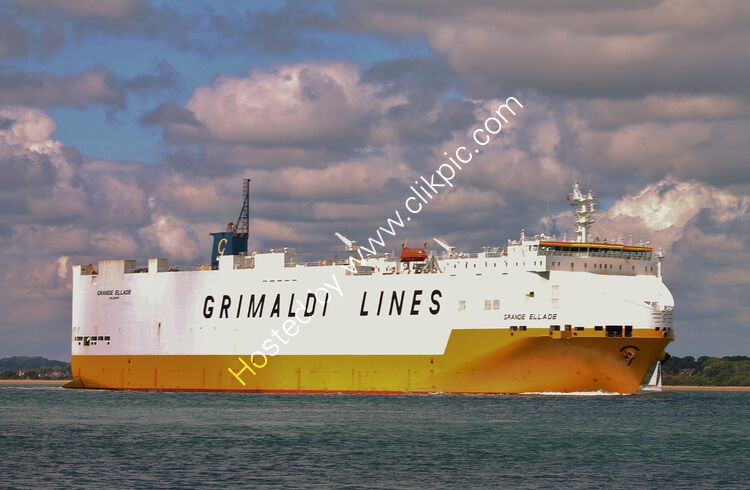 Ref-VCR174 Grande Ellade Vehicle Carrier Southampton Water Hampshire Gt Britain 2020 (C)RLT Aviation And Maritime Images 2020