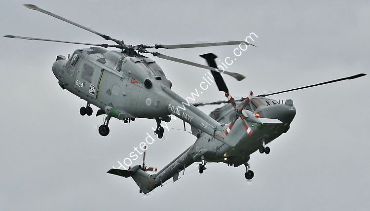 Ref-WLX35 Westland Lynx HAS3 Royal Navy XZ234 & XZ730 RNAS Culdrose Cornwall Gt Britain 2010 (RLT) Aviation And Maritime Images 2018 opt