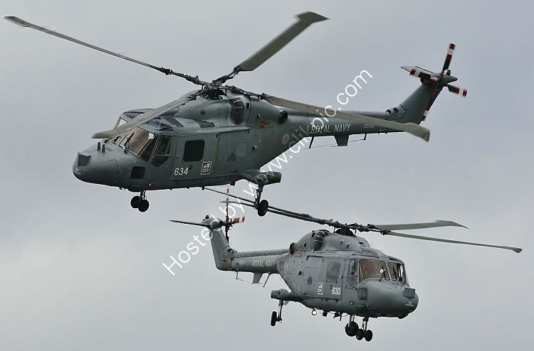 Ref-WLX38 Westland Lynx HAS3 Royal Navy XZ234 & XZ730 RNAS Culdrose Cornwall Gt Britain (C)RLT Aviation And Maritime Images 2018 opt