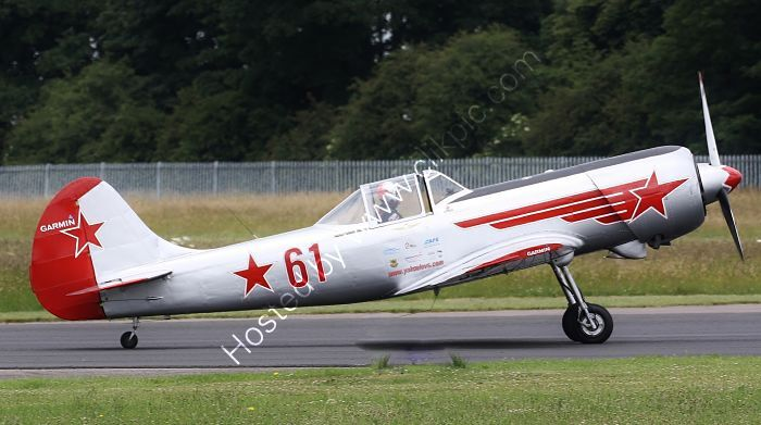 Ref-YAK50-7 Yak 50 G-YAKM Russian Air Force  ~ Private Owner Cotswold Airport (Kemble) Gloucestershire GB 2010 (C)RLT Aviation And Maritime Images 2020 opt