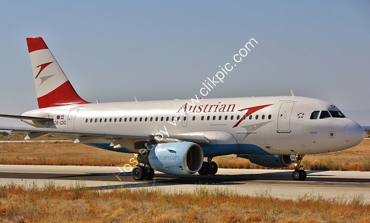 Ref A319-143 Airbus A319-112 Austrian Airlines OE-LDG Rhodes Airport Greece 2013 (C)RLT Aviation And Maritime Images 2018 opt