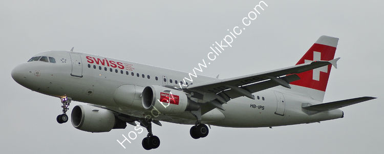Ref A319-6 Airbus A319-112 HB-IPS Swiss International Airlines London Heathrow Airport London Gt Britain 2012 (C)RLT Aviation And Maritime Images 2018