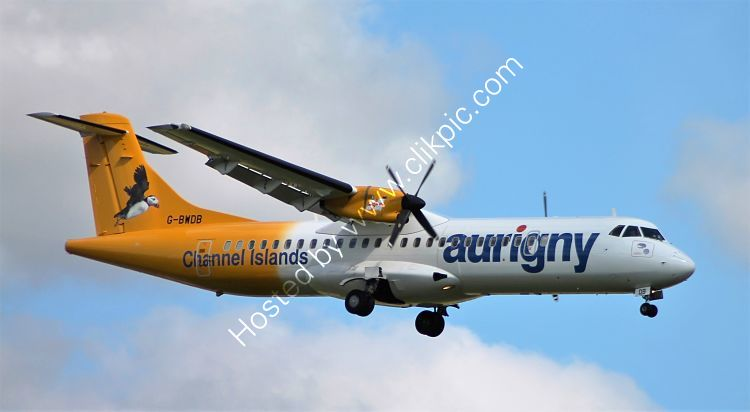 Ref A72-3 ATR 72-202 G-BWDB Aurigny Airlines London Gatwick Airport West Sussex Gt Britain 2014 (C)RLT AVIATION And Maritime Images 2018 opt