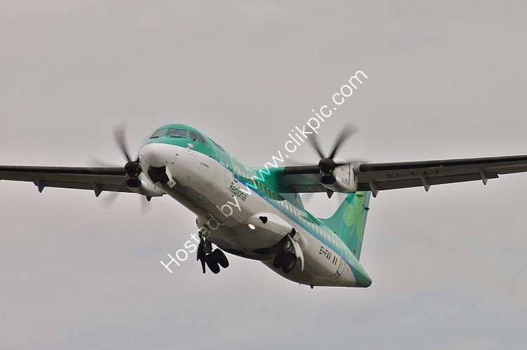 Ref A72-43 ATR 72-600 EI-FAV Aer Lingus Bristol Airport Somerset Gt Britain 2018 (C)RLT-Aviation And Maritime Images 2018 opt
