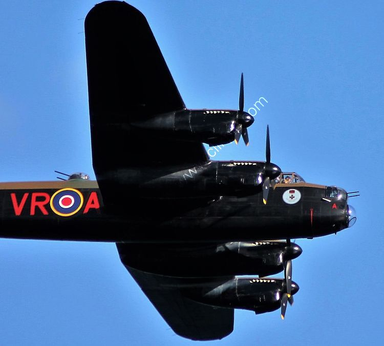 Ref ALT-36A Avro Lancaster Mk 10 KB726 CWHM Dawlish Airshow Devon Gt Britain 2014 (C)RLT Aviation And Maritime Images - 2018 opt