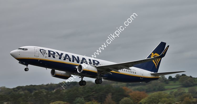 Ref B738-185 Boeing 737 8AS Ryanair EI-FTL Bristol Airport Somerset Gt Britain 2018 (C)RLT Aviation And Maritime Images 2018 opt