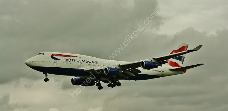 Ref B744-13 Boeing747-436 British Airways On Final Approach To London Heathrow Airport London Gt Britain 2012 (C)RLT Aviation And Maritime Images 2018