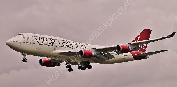 Ref B744 21 Boeing 747-4Q8 G-VBIG Virgin Atlantic Airways London Gatwick Airport West Sussex Gt Britain 2015 (C)RLT Aviation And Maritime Images 2018