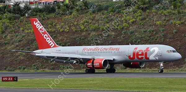 Ref B752 3 Boeing 757-21B G-LSAH Jet 2 Funchal Airport Madeira 2013 (C)RLT Aviation And Maritime Images 2018