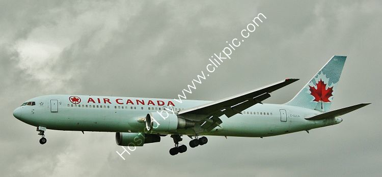 Ref B763-7 Boeing 767-375ER C-GLCA Air Canada London Heathrow Airport London Gt Britain 2012 (C)RLT Aviation And Maritime Images  2018 opt