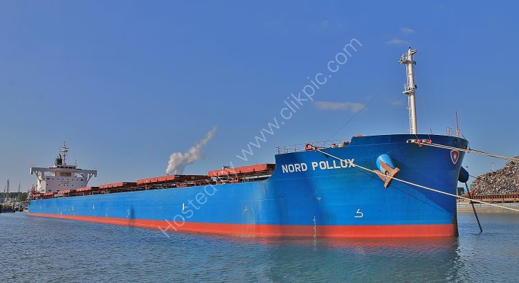 Ref BC(NG)-112 Nord Pollux Bulk Carrier Port Of Rotterdam Holland 2017 (C)RLT Aviation And Maritime Images 2018