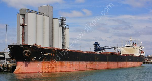 Ref BCNG55 Lioness C Bulk Carrier Southampton Docks Hampshire Gt Britain 2010 (C)RLT Aviation And Maritime Images 2018
