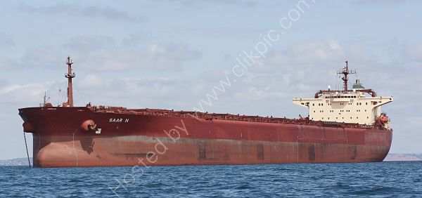 Ref BC(NG)68 Saar N Bulk Carrier Torbay Deep Water Anchorage Gt Britain 2010 (C)RLT Aviation And Maritime Images 2018