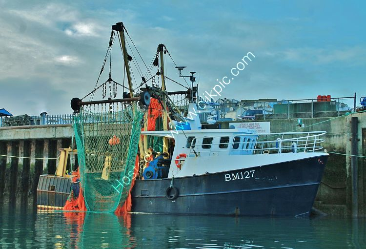 Ref TBM25 BM127 Harvester Port Of Brixham Devon Gt Britain Port Of Registry Brixham 2012 (C)RLT Aviation And Maritime Images 2018 opt