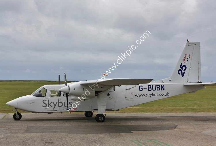 Ref BNI-6 Britten Norman BN2A Islander Isles Of Scilly Skybus G-BUBN Lands End Airport Cornwall Gt Britain 2013 (C)RLT Aviation And Maritime Images 2018 opt