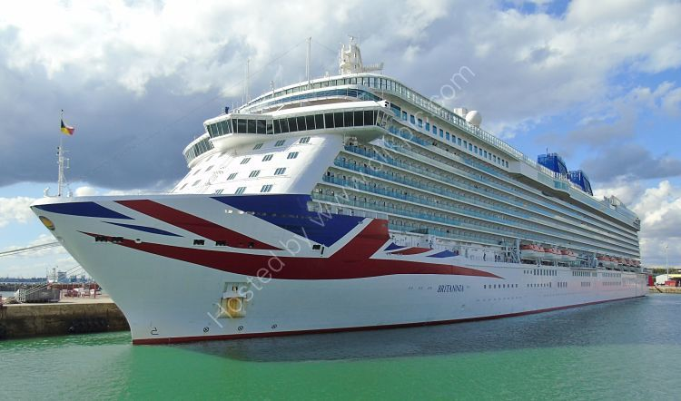 Ref C-LPO139 Britannia P&O Cruise Line Southampton Docks Gt Britain 2017 (C)RLT Aviation And Maritime Images 2018